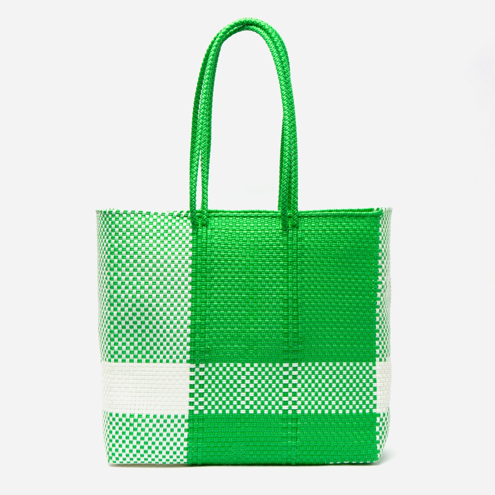 Buena Tote Buffalo Plaid Green - Frances Valentine