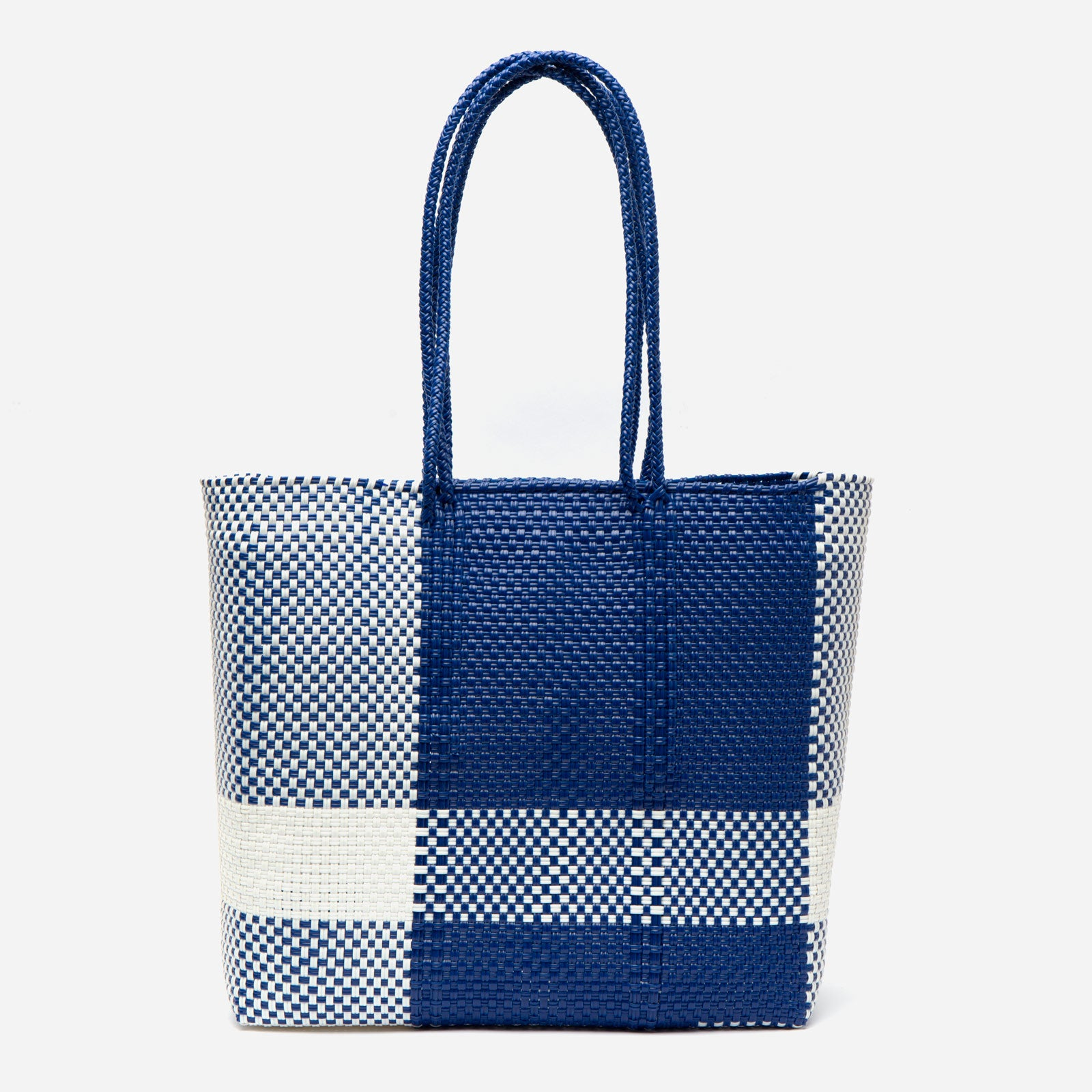 Buena Tote Buffalo Plaid Navy