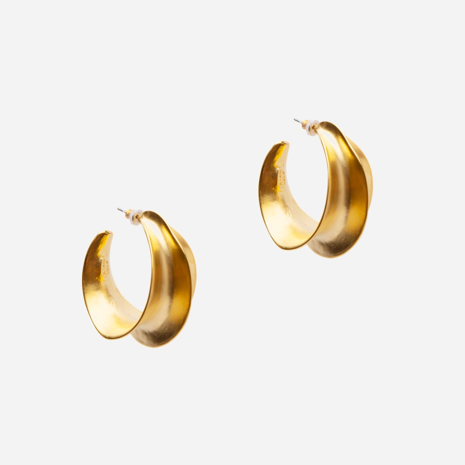 Gold Pleat Earrings