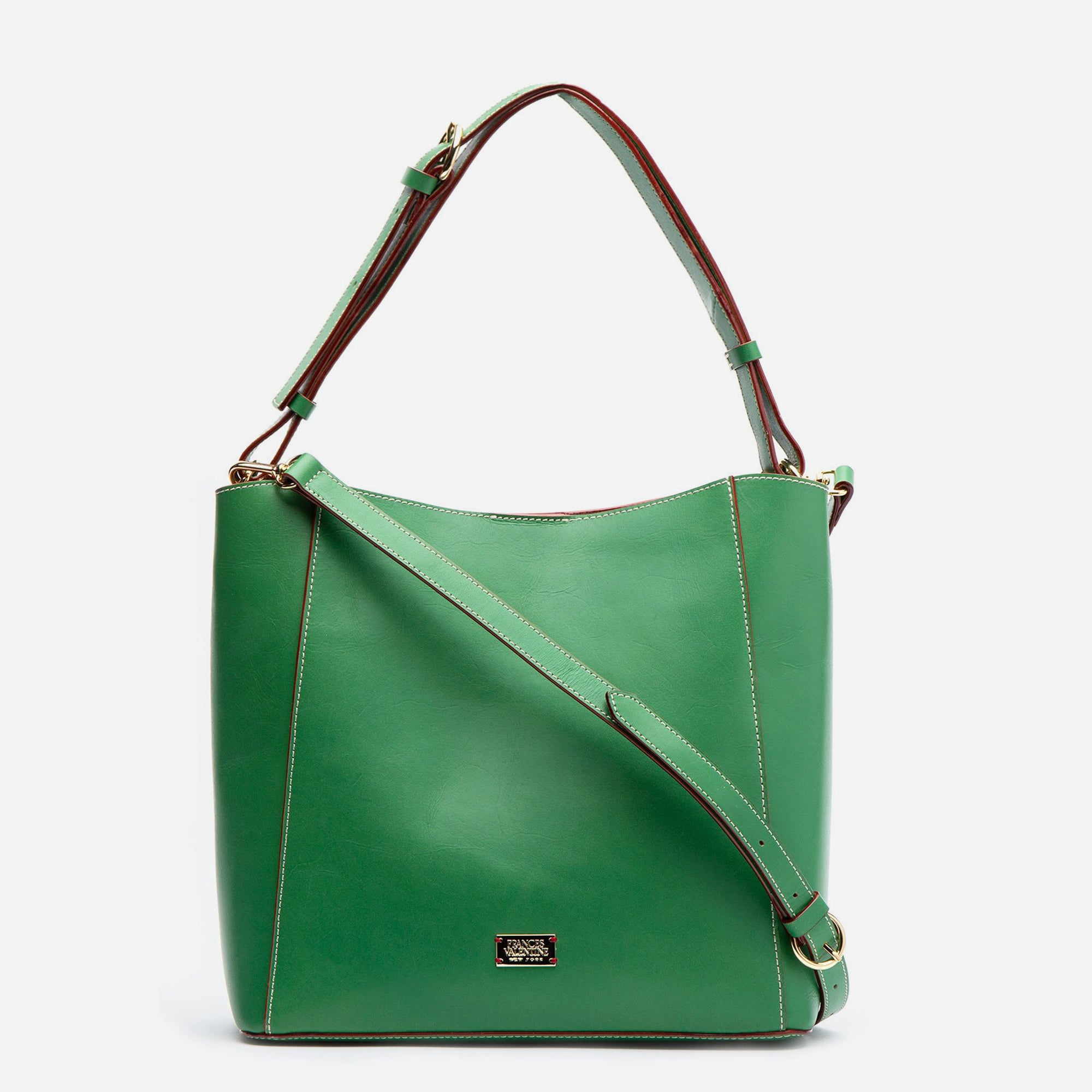 June Hobo Handbag Leather Green Ray