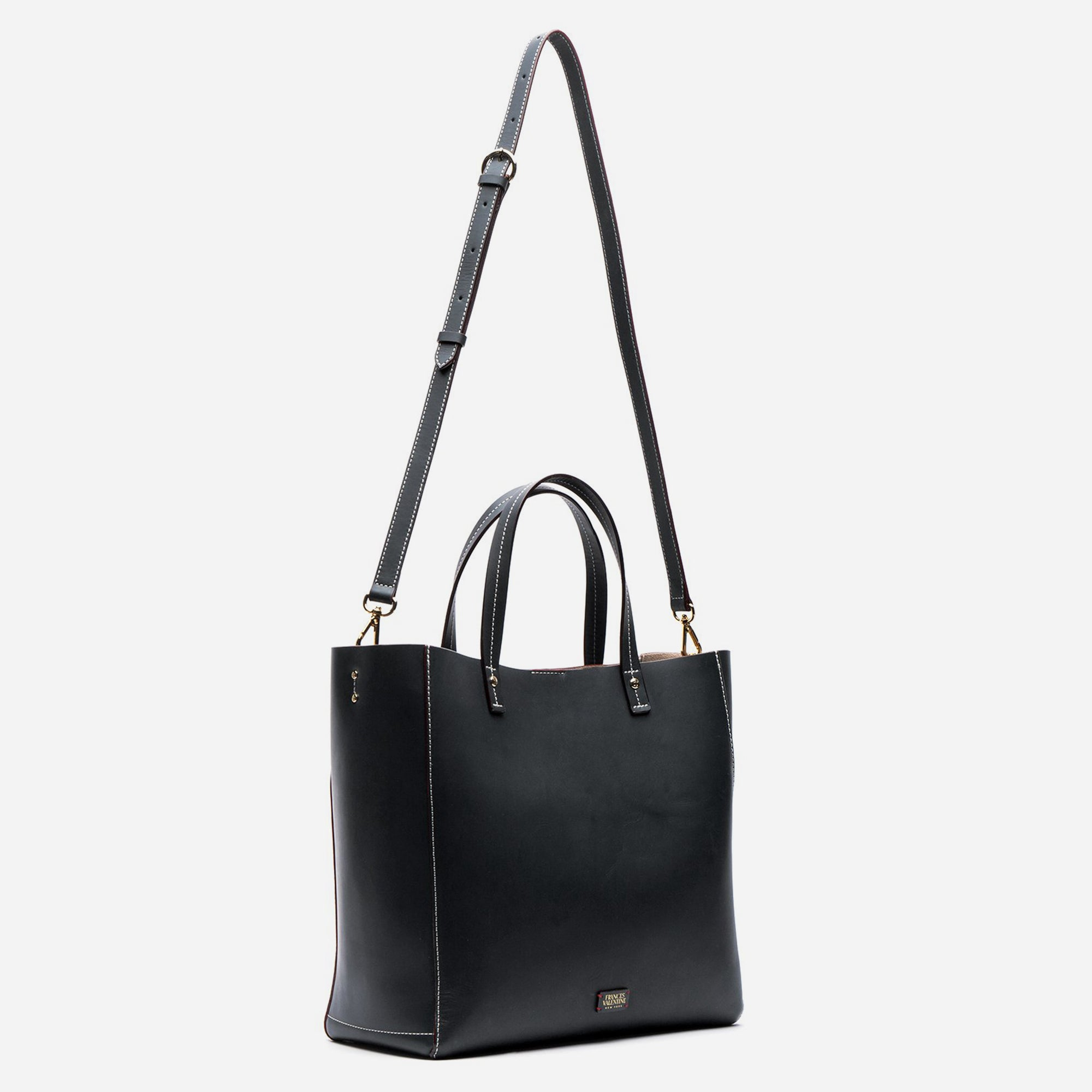Large Margaret Leather Tote Ink