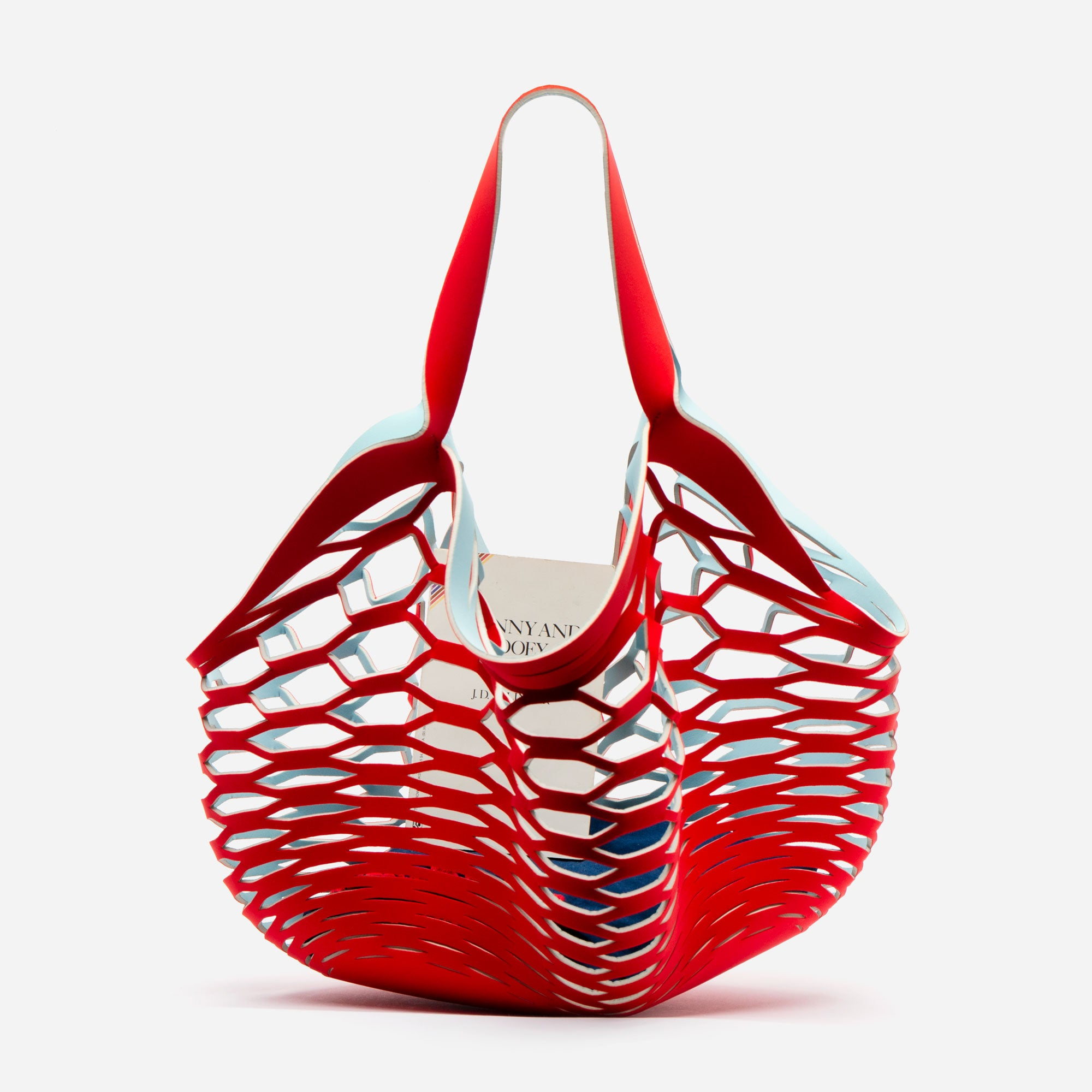 Sea Star Beachwear Fisherman Tote Light Blue Red