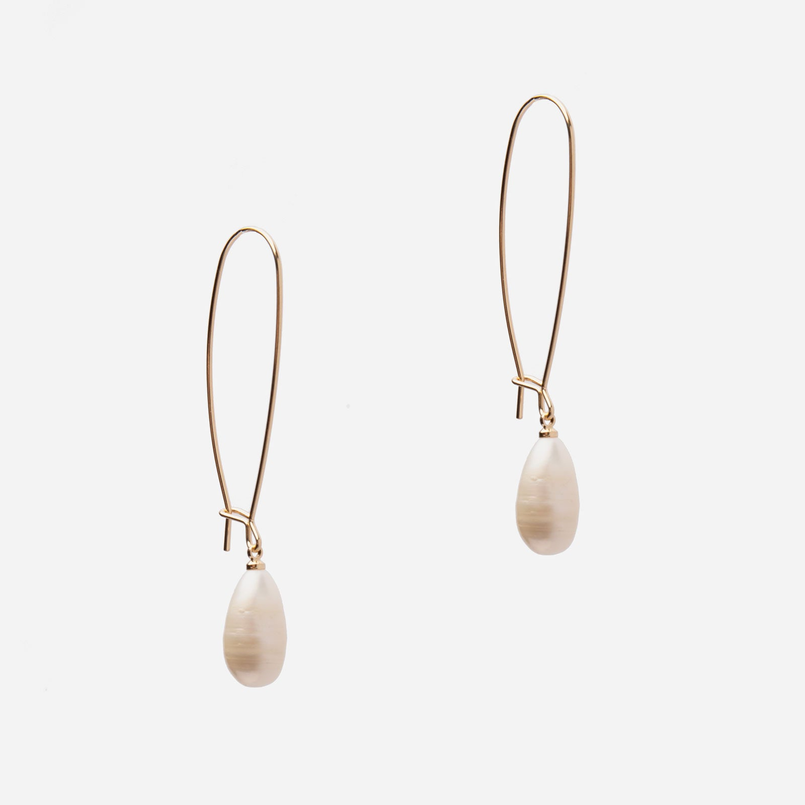 Slim Pearl Drop Earrings - Frances Valentine