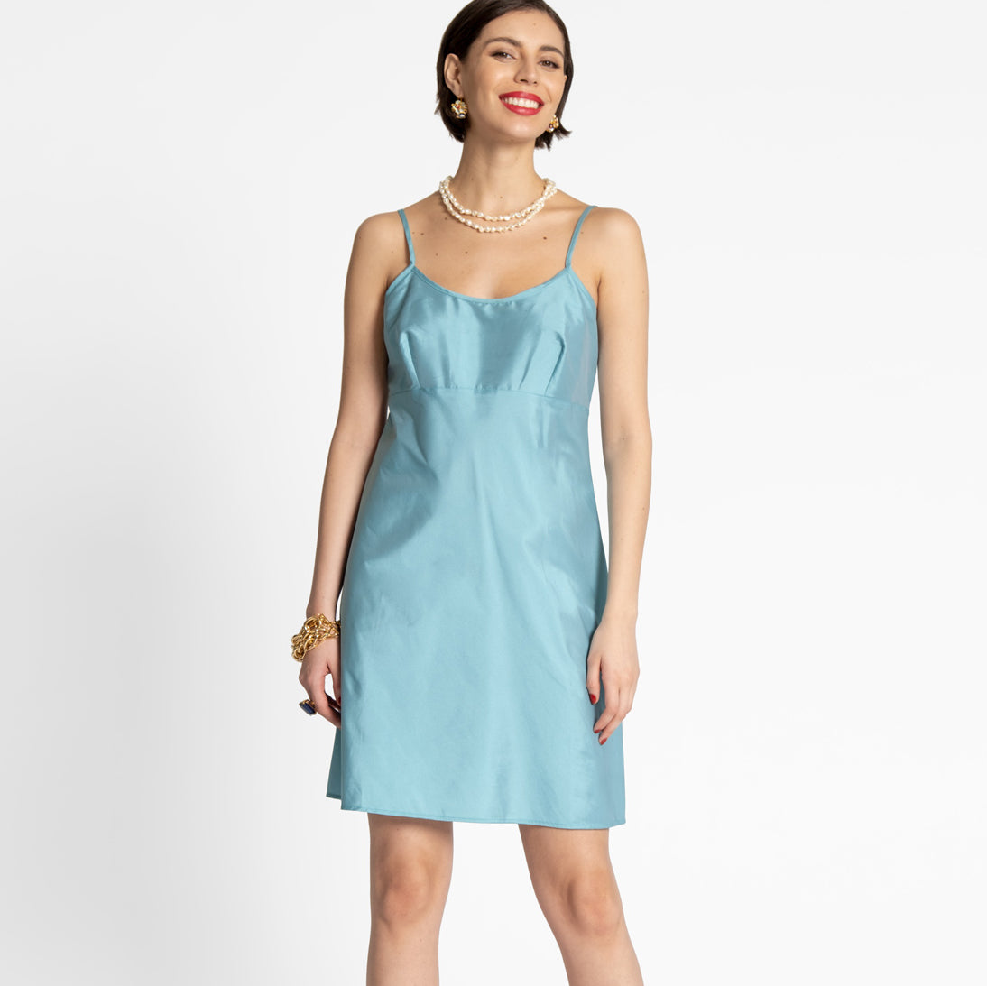 Slip Dress Turquoise