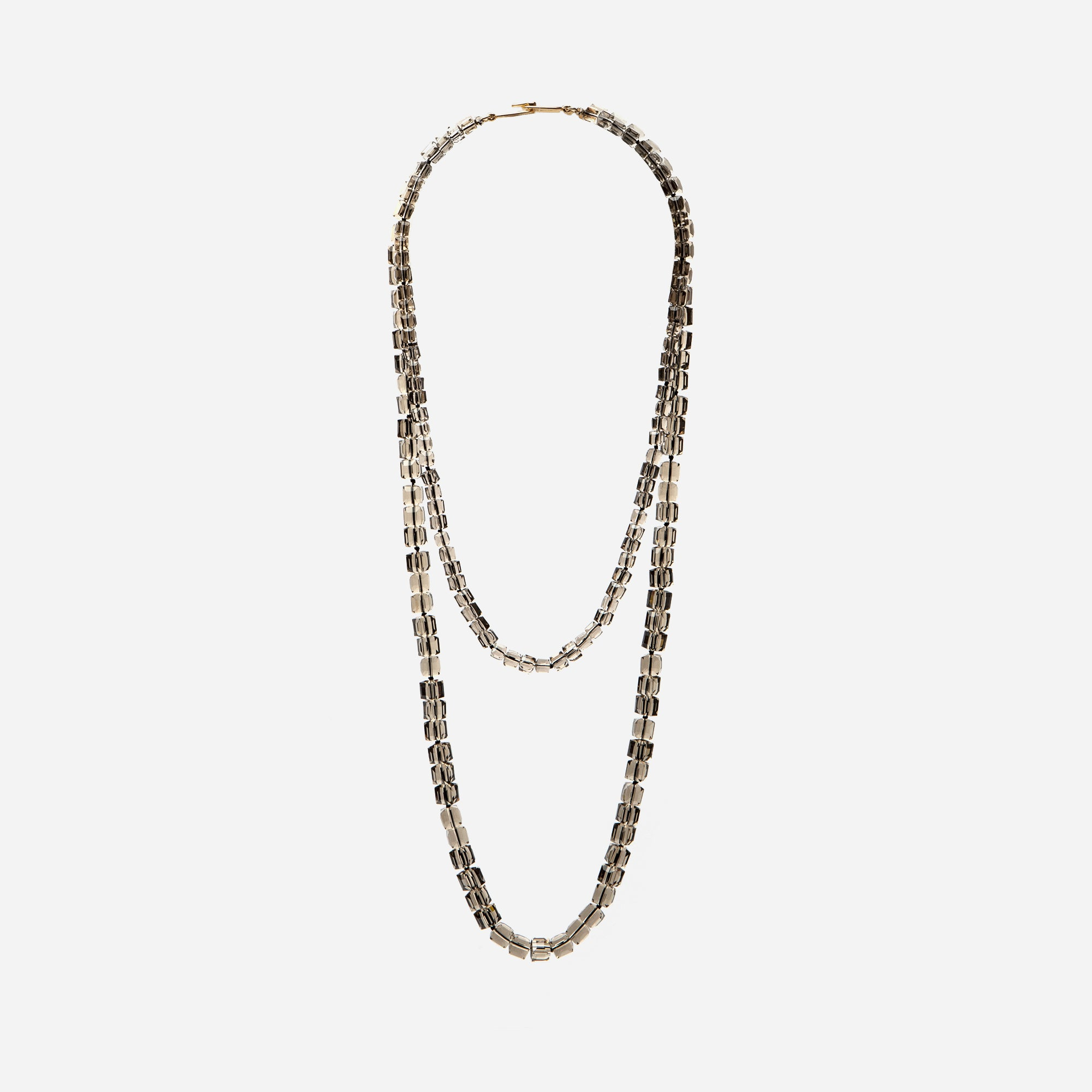 Smokey Double Stack Necklace - Frances Valentine