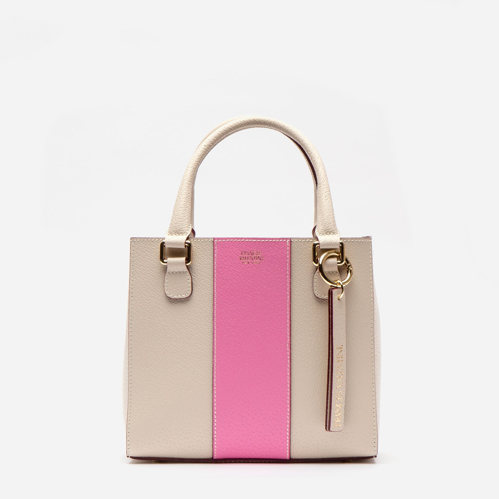 Small Chloe Racing Stripe Oyster Pink - Frances Valentine