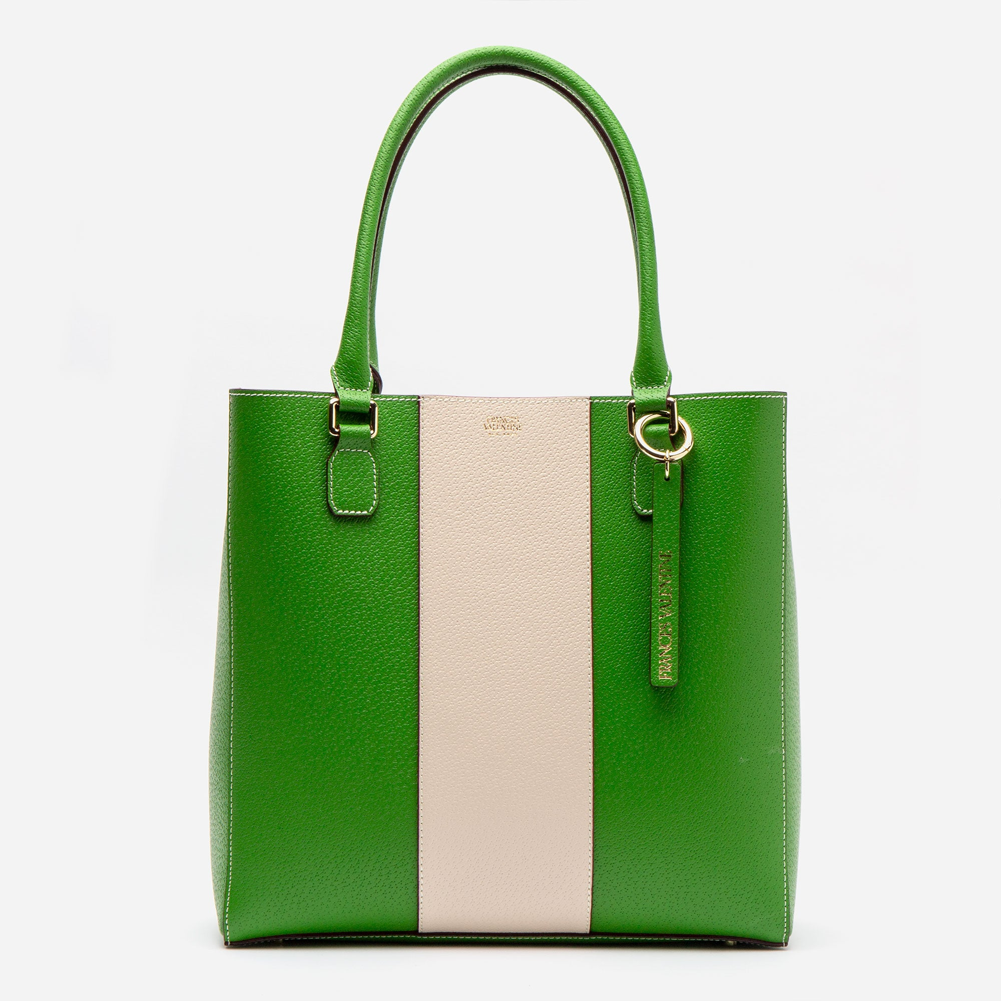 Tall Chloe Racing Stripe Green Oyster - Frances Valentine