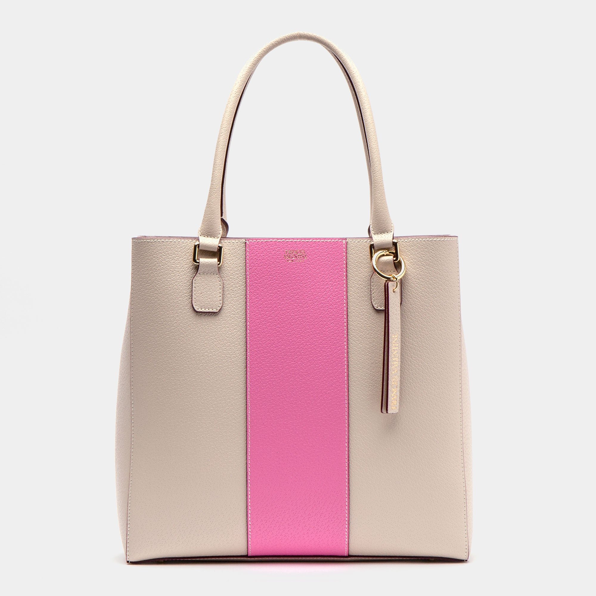 Tall Chloe Racing Stripe Oyster Pink - Frances Valentine