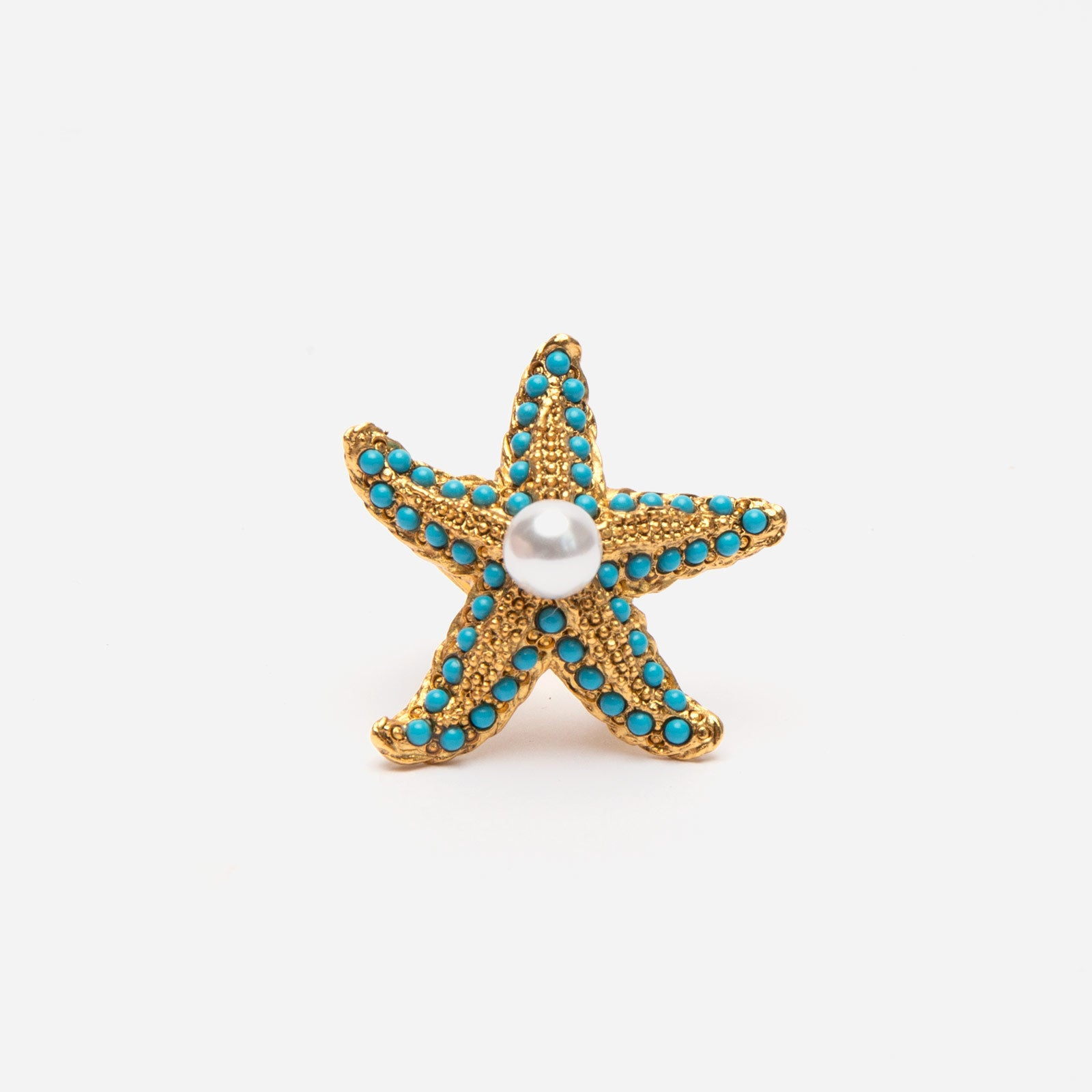 Turquoise Pearl Starfish Ring - Frances Valentine