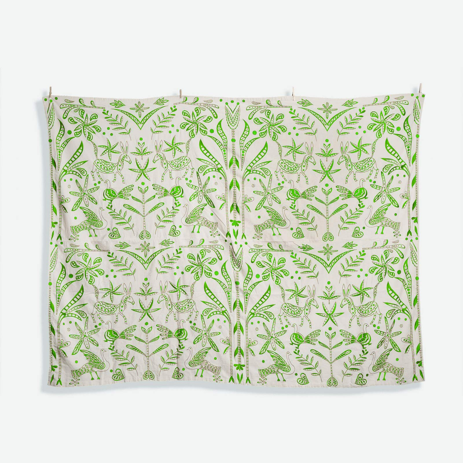 Embroidered Tablecloth Veracruz Green