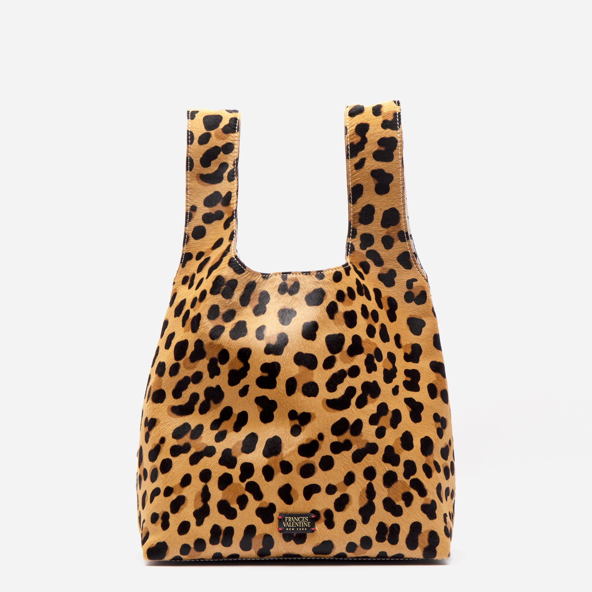 Tucker Shopping Bag Lepoard Printed Haircalf