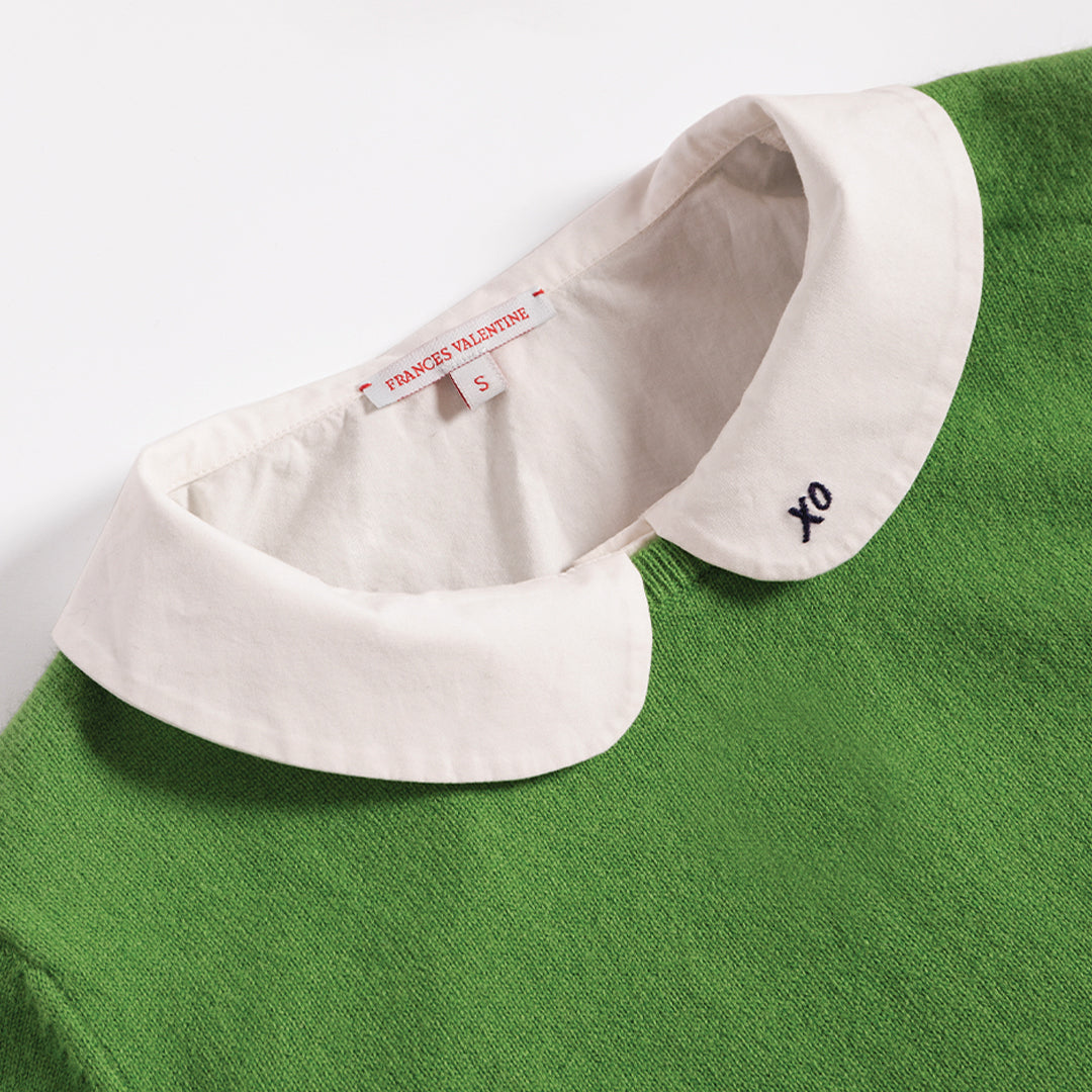 Louise Collar Cotton Shell White