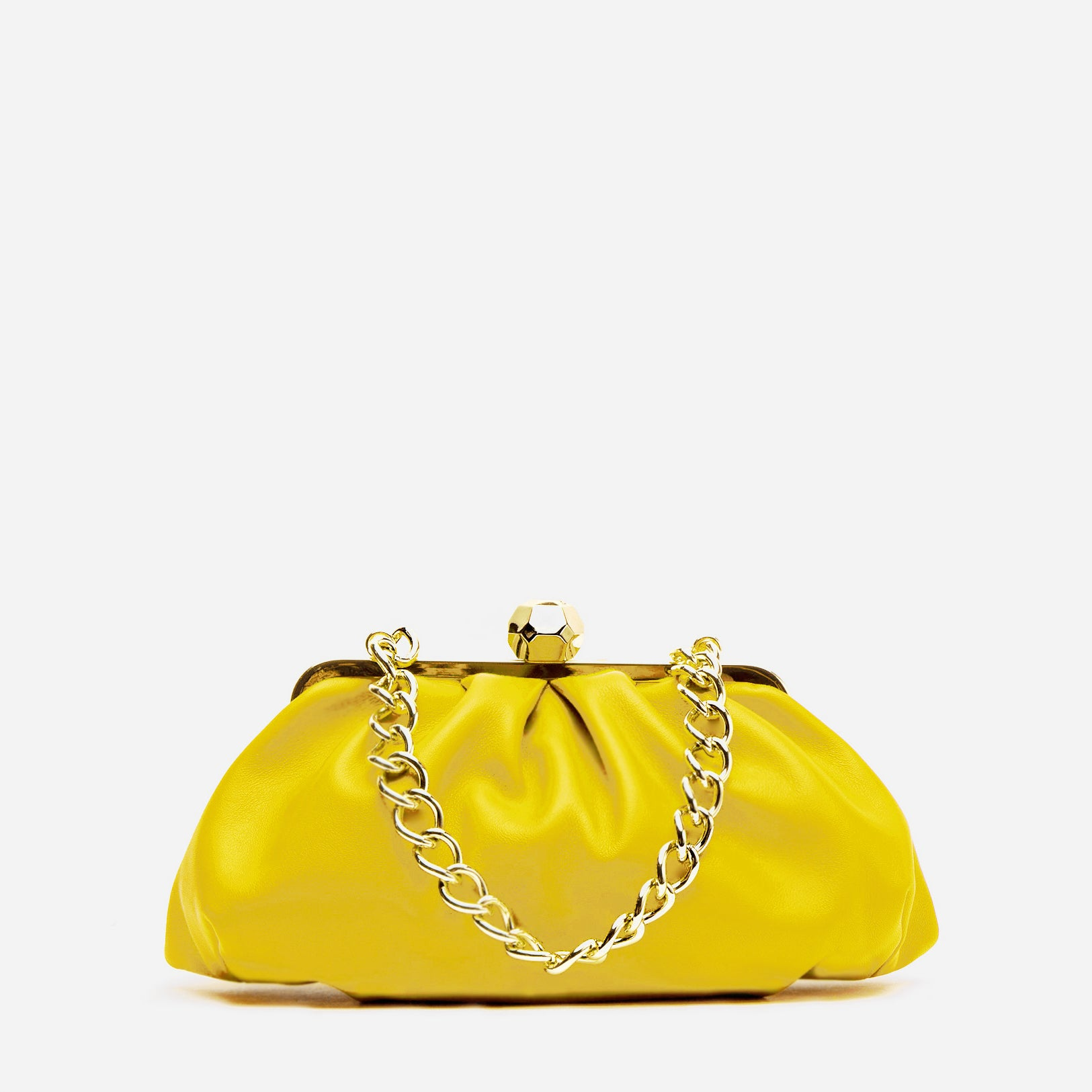 Zelda Frame Bag Nappa Leather Yellow