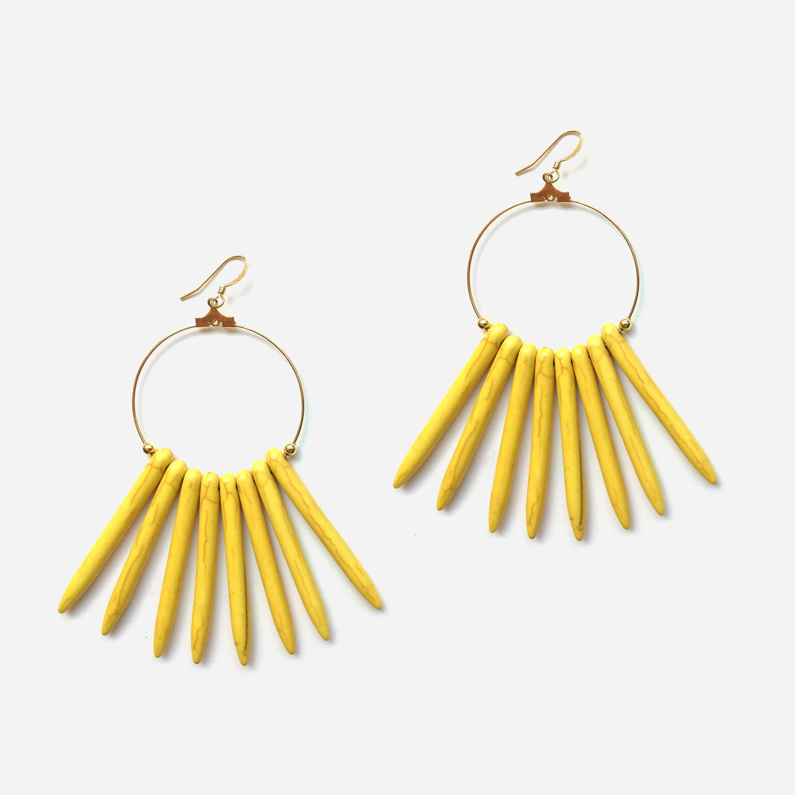 Chile Hoop Earrings Yellow