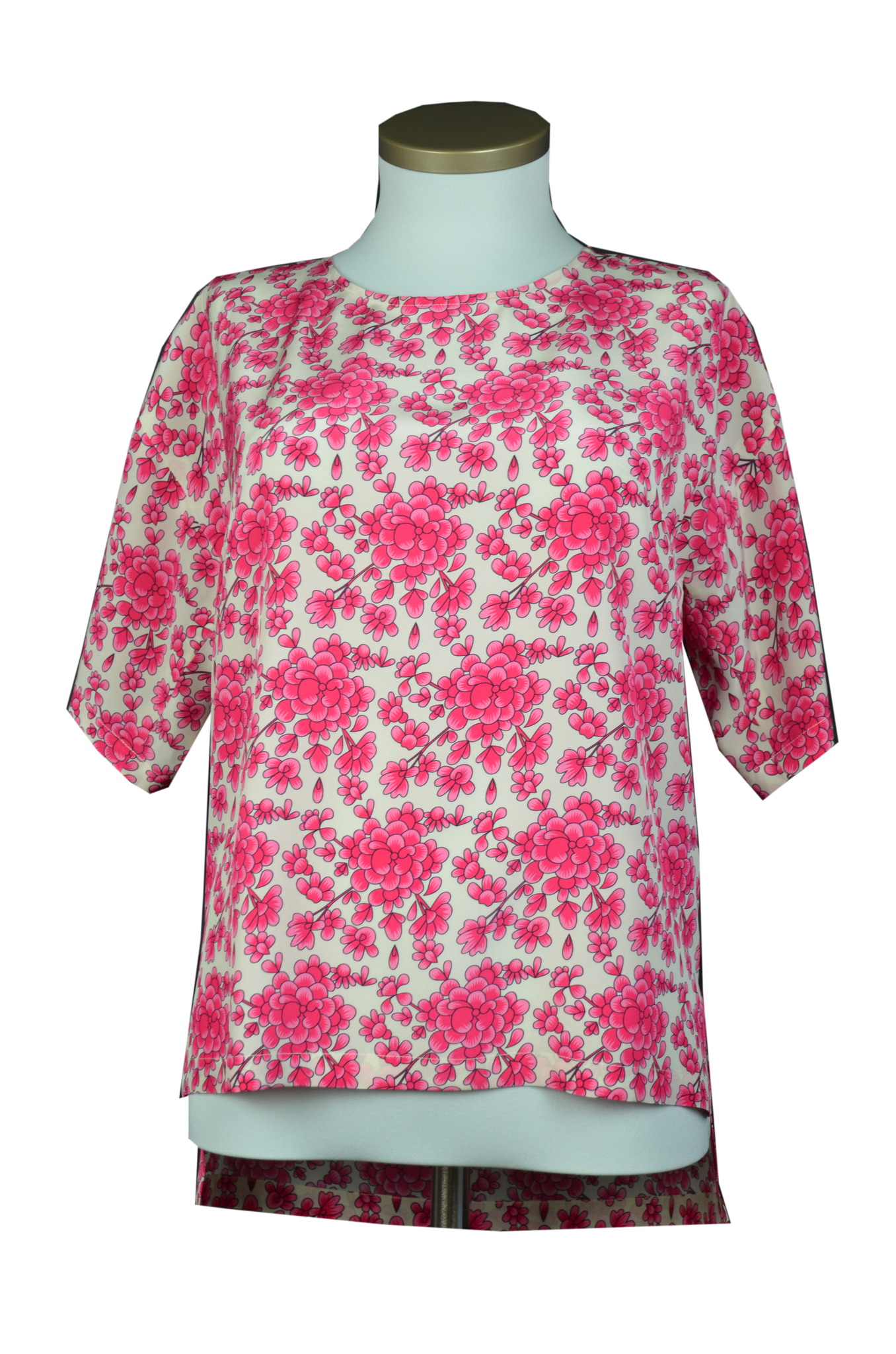 "Oversize Bluse ""Pink flowers"""