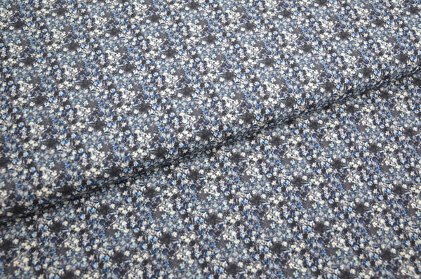 "Baumwolle eco ""little flowers"" blau"