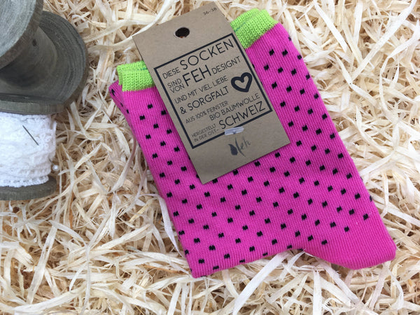 "Socken ""Points"" pink"