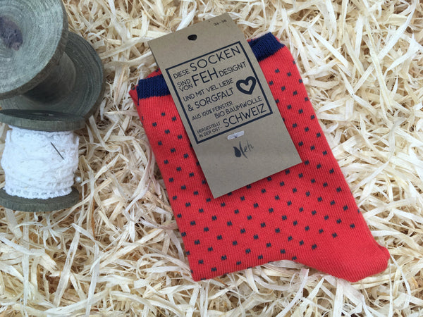"Socken ""Points"" rot"