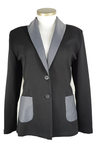 "Blazer Rippenstrick ""Black and White"""