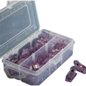 Lederclips Box, violett