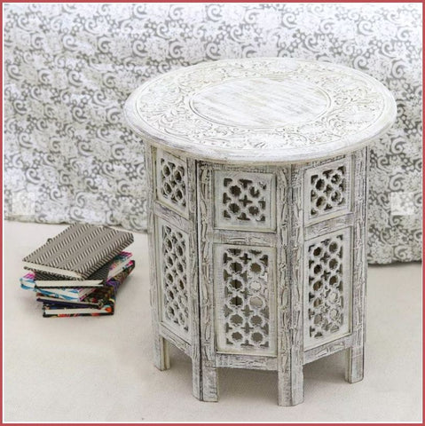 Handcrafted Mango Wood Accent Table 2