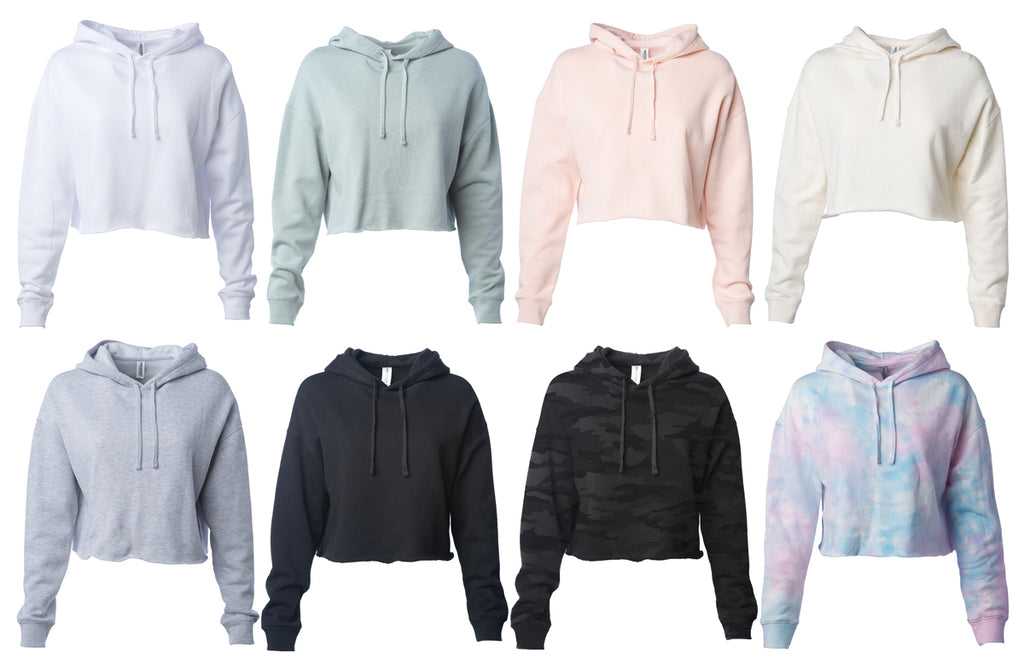 Garments displaying 8 available colorways.