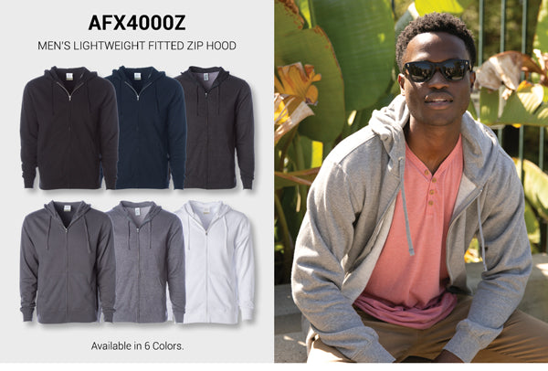 AFX4000Z - Men's Lightweight Fitted Zip Hood