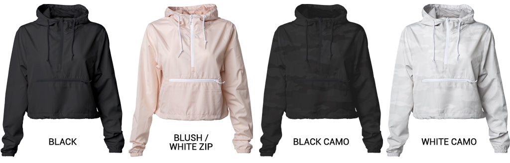 Women's Lightweight Crop Windbreaker - 4 Colors Available Now!