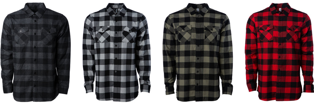 EXP50F Men's Flannel Shirt available in 4 Colors.