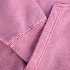 Pigment Dye sleeve & pocket detail in color Pigment Maroon.