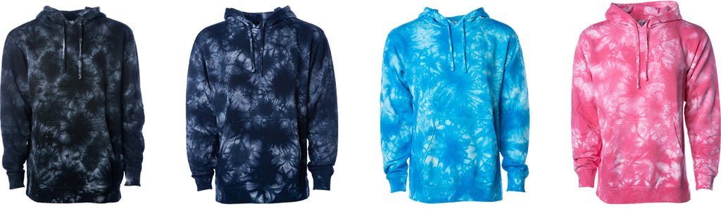 PRM4500TD - Men's Midweight Tie Dye Hooded Pullover