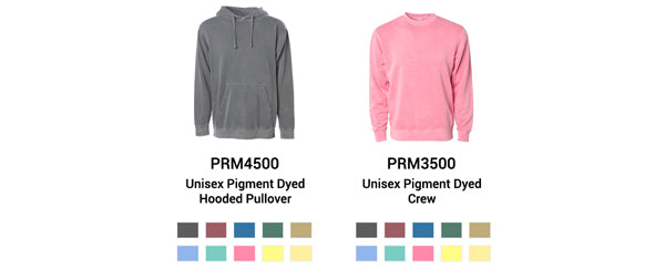2 Unisex Pigment Dyed Styles