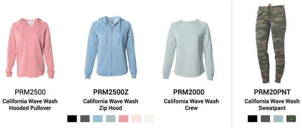 4 Women's California Wave Wash Styles