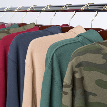 A rich variety of sweatshirts, jackets and t-shirts