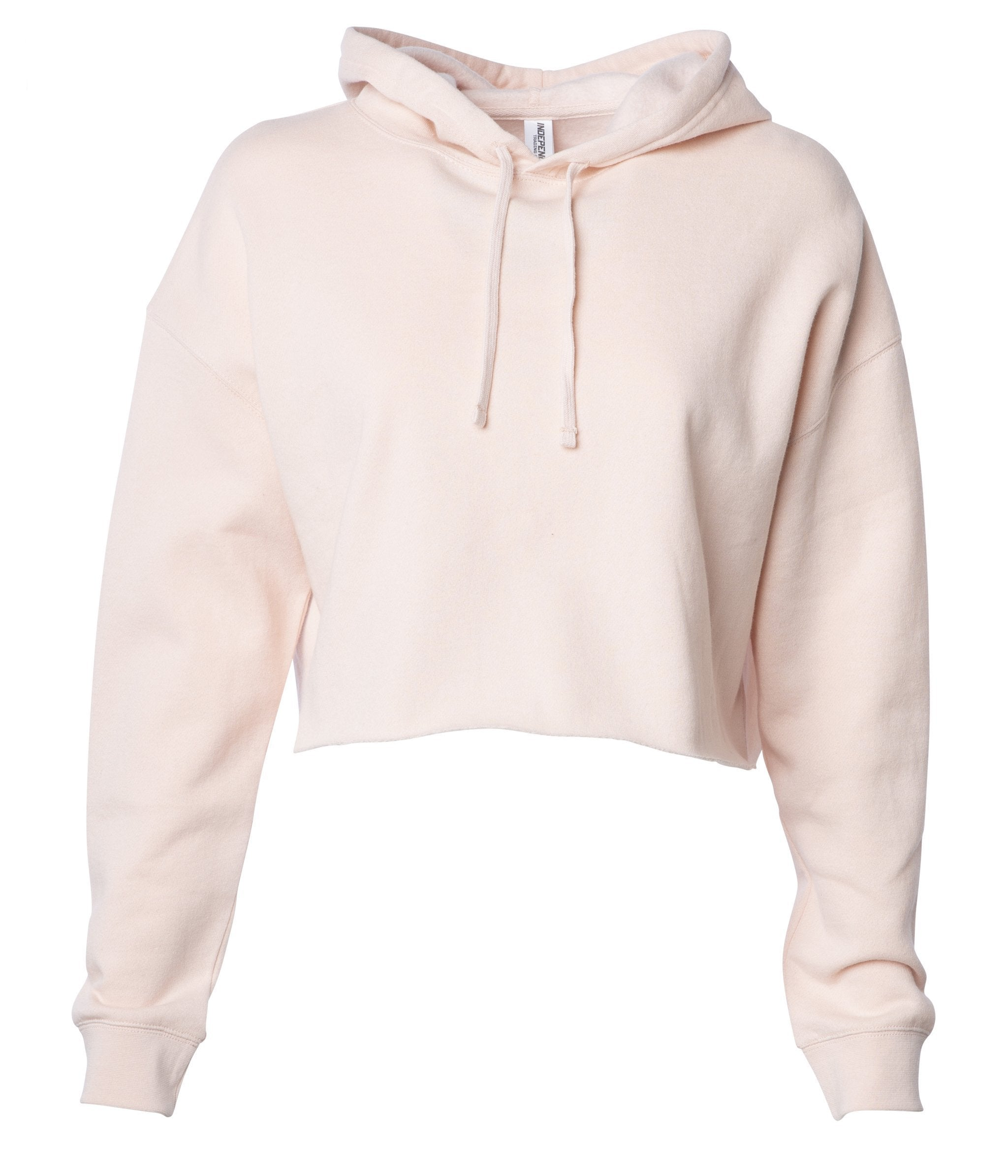 345db6809e0826 Women s Lightweight Crop Hooded Pullover - Independent Trading Company