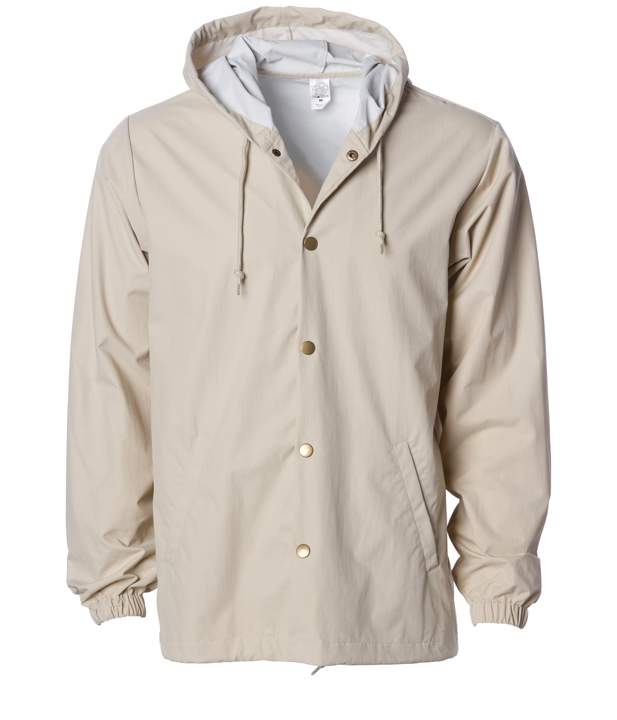 New Men/'s Snap Front Lined Windbreaker Water Proof Nylon Coaches Jacket Style