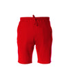 Men's Midweight Fleece Short - Red & White