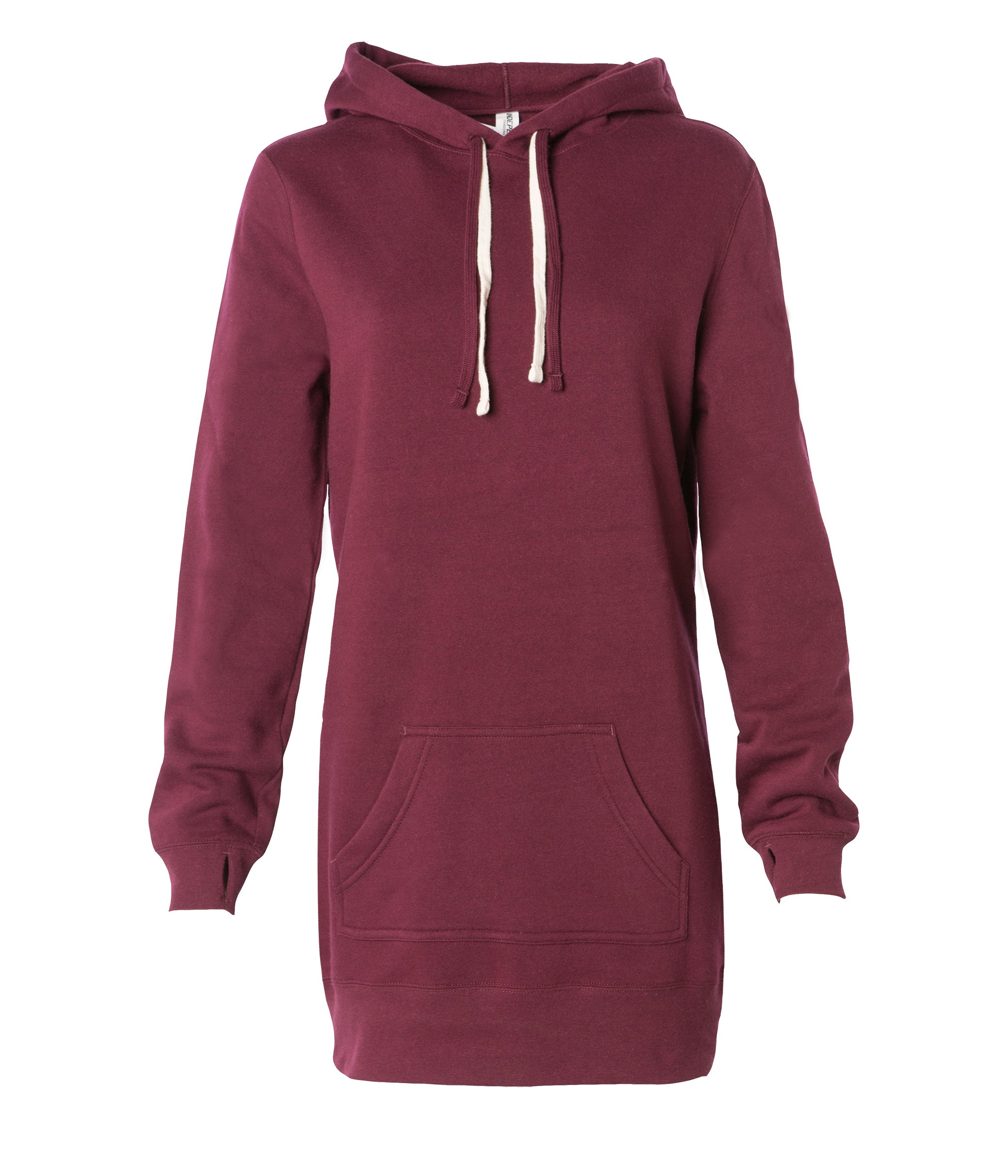 6419b1d1b94552 Womens Pullover Hooded Sweatshirt Dress | Independent Trading Company