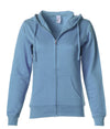 SS650Z Women's Lightweight Zip Hooded Sweatshirt in color Misty Blue