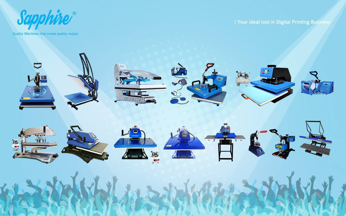 Sapphire® Heat Press: Your Ideal tool in Digital Printing Business - Crystal Image Paper Marketing Corp