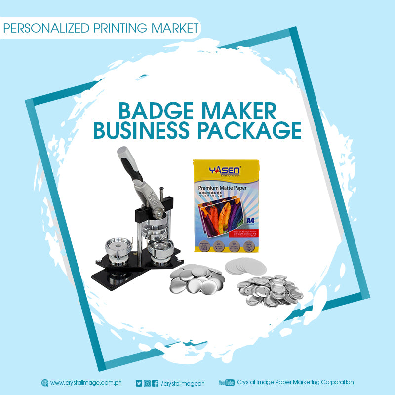 button pin business package, printing business package