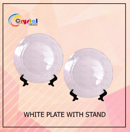 White Plate with Stand