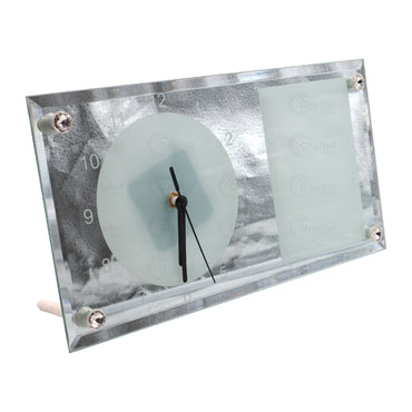 Sublimation Glass Clock Customizable