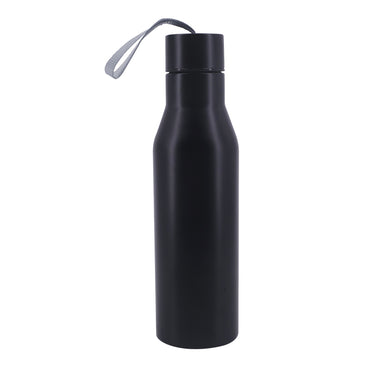 Uncoated Stainless Thermos Bottle with Rope