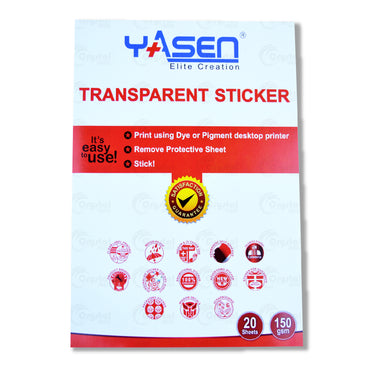 Yasen Glossy Transparent Sticker