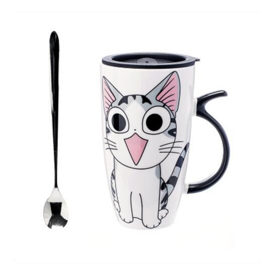 Large-Capacity Cat Cup with Silicone Lid - Dripshipper Coffees