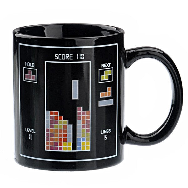 Tetris Pattern Color Changing Mug - Dripshipper Coffees