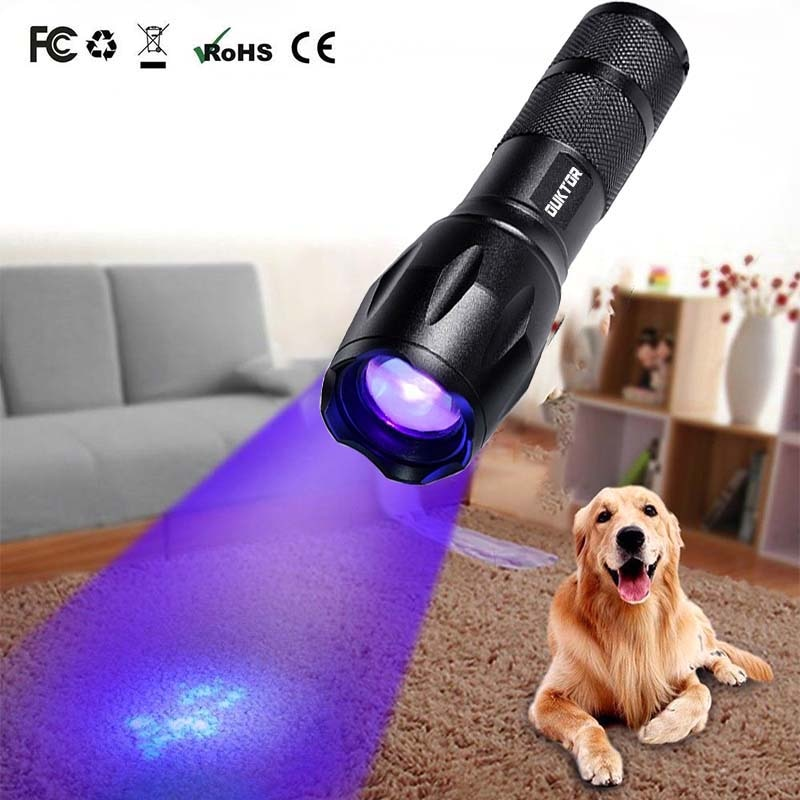 New Ultraviolet Invisible Led Flashlight 365nm  Zoomable Torch for Pet Stains Hunting Marker Checker (UV 365nm-200002572 UV 365nm-193)