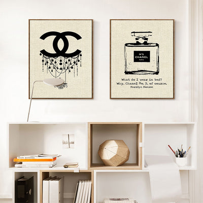 Fashion Cuadros Vintage Canvas Pictures for Living room Modern Minimalist Perfume Art Print Painting for Home Decoration Poster
