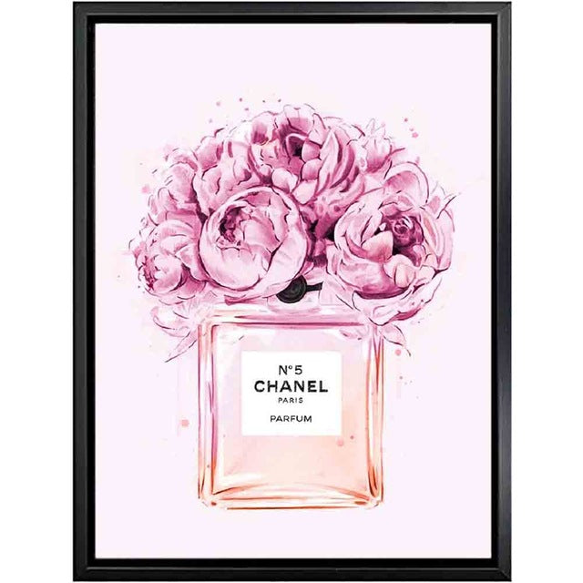Coco Chanel Perfume Flowers Painting Fashion Quotes Nordic Wall Art